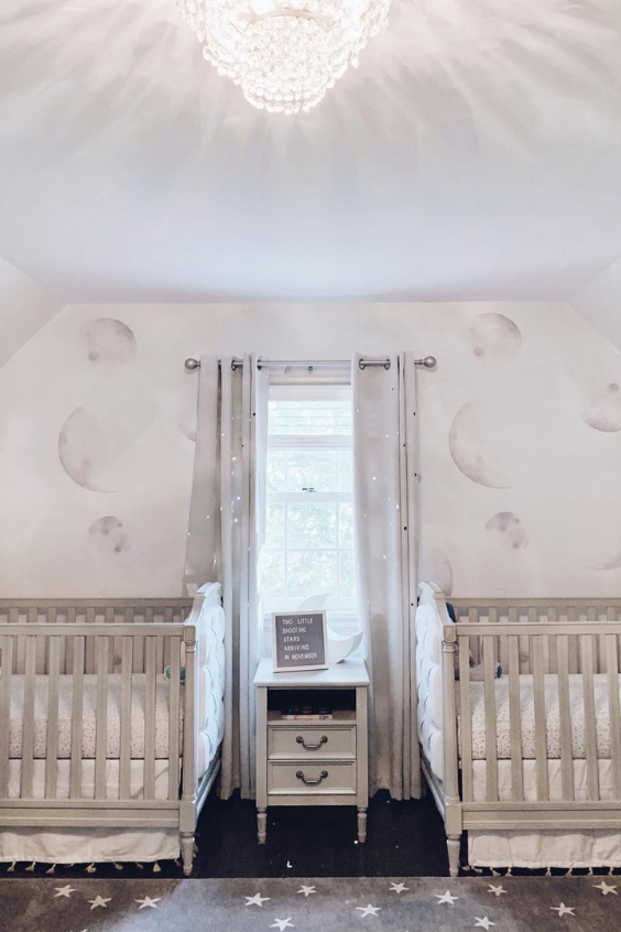 twin nursery design