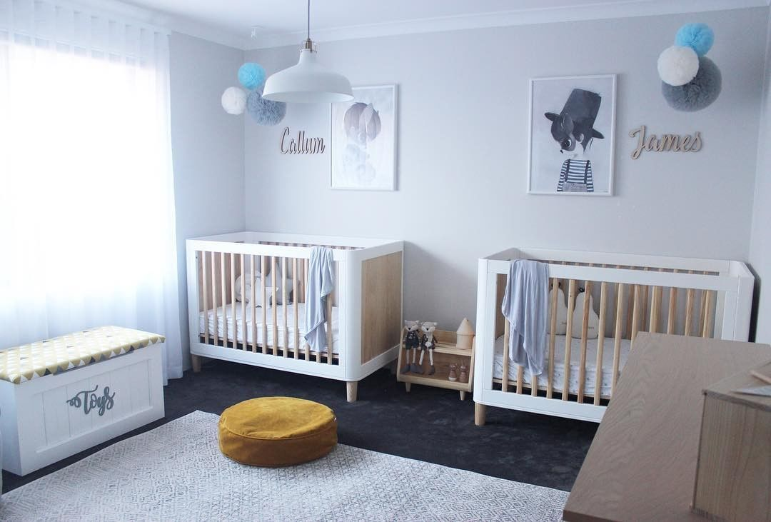 twin scandinavian nursery