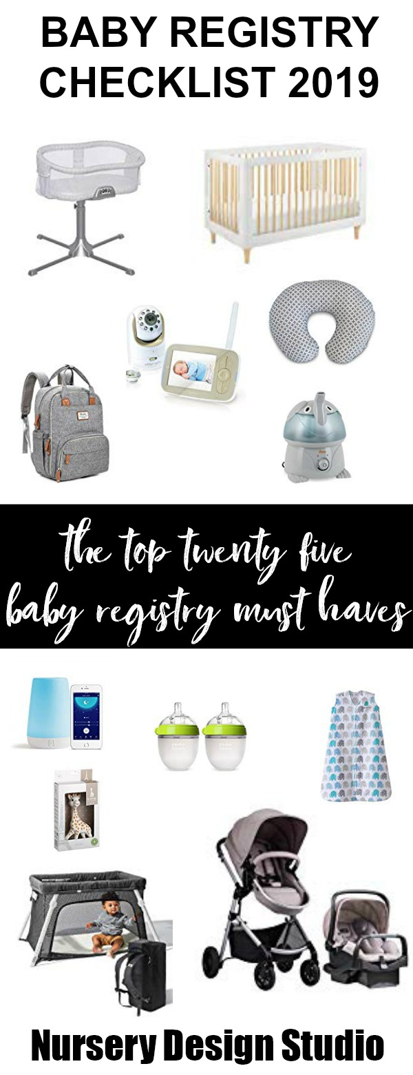 BABY REGISTRY CHECKLIST 2019 + PRINTABLE | Nursery Design Studio