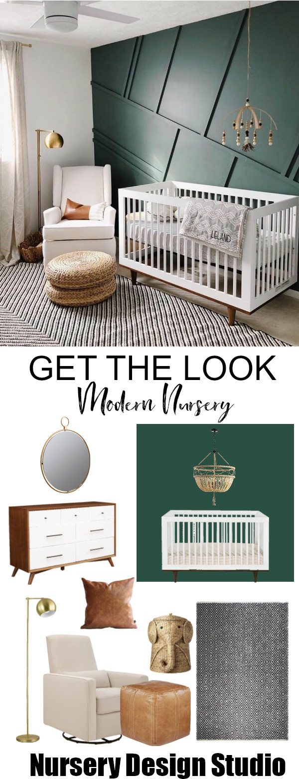 Get The Look Stunning Green Accent Wall Nursery Nursery