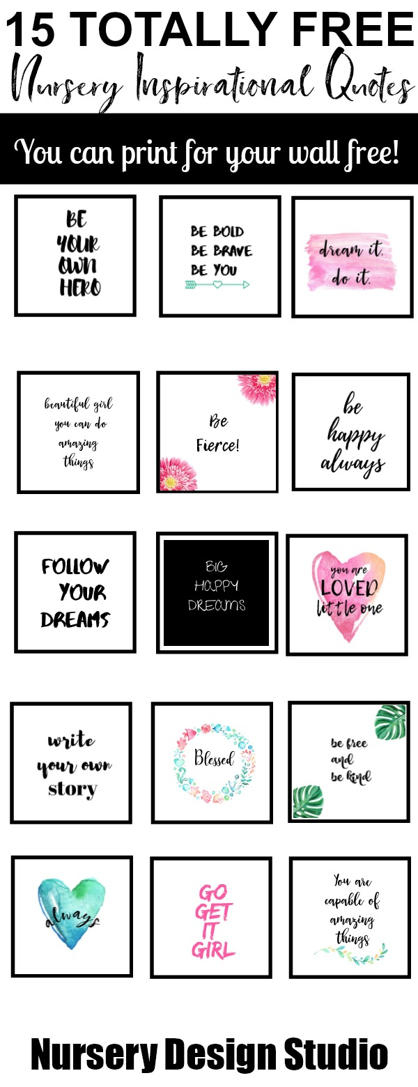 15 FREE INSPIRATIONAL QUOTES FOR THE NURSERY   Nursery ...