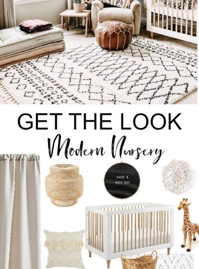 ivory and white modern nursery
