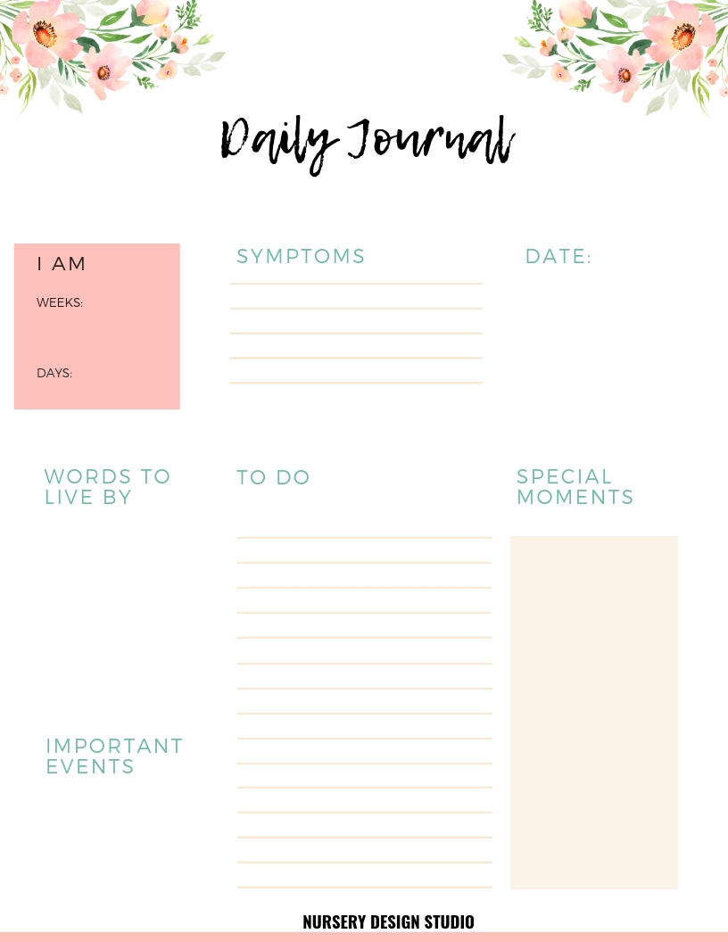 photo regarding Free Printable Pregnancy Journal named Household BINDER AND Being pregnant PLANNER + Cost-free PRINTABLES