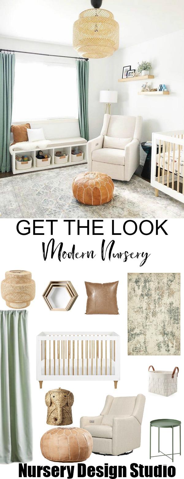 Get The Look Sage Green Modern Nursery Design Studio