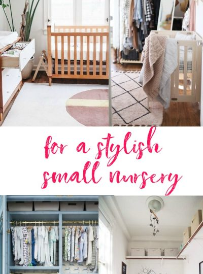 space saving hacks for a stylish small nursery