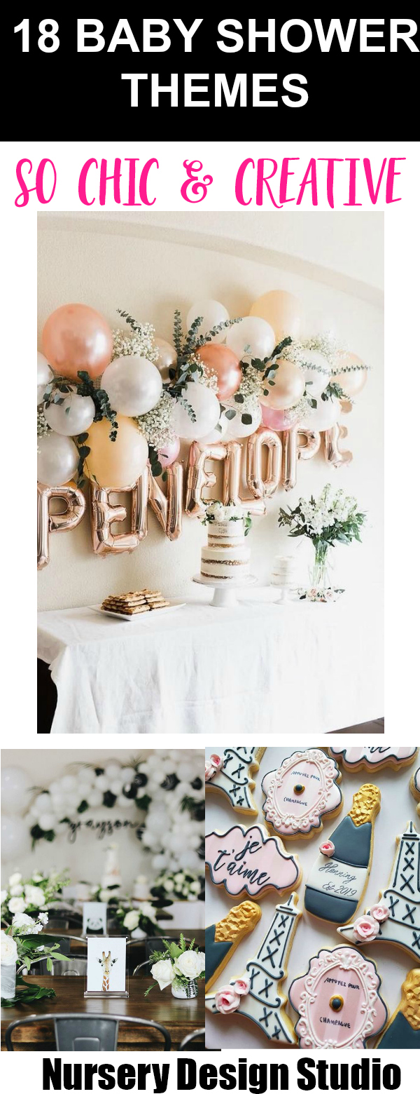 18 BABY SHOWER THEMES THAT ARE CREATIVE AND CHIC