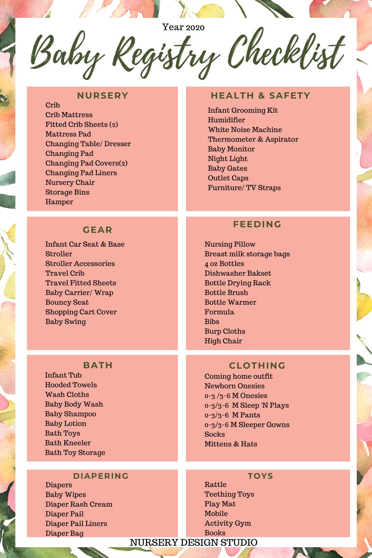 baby registry checklist 2020