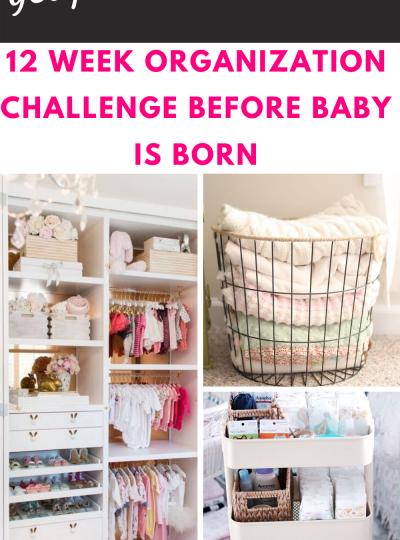 12 WEEK PRINTABLE CHECKLIST FOR 12 WEEK ORGANIZATION CHALLENGE BEFORE BABY