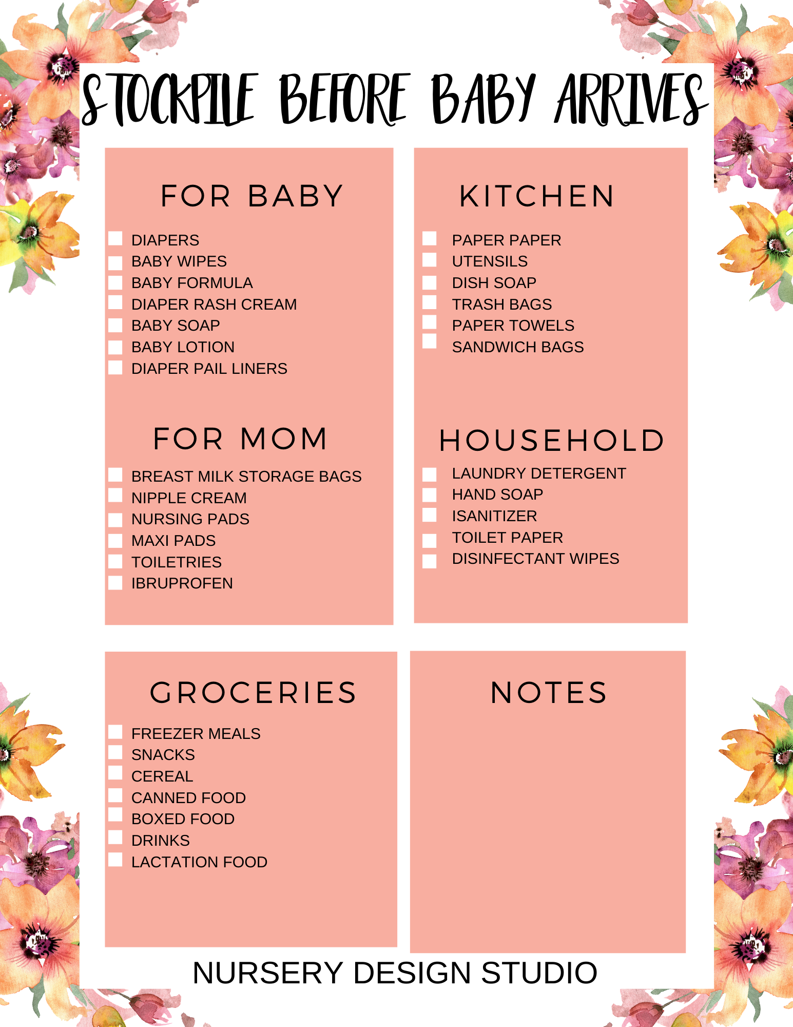 THINGS TO STOCKPILE BEFORE BABY ARRIVES