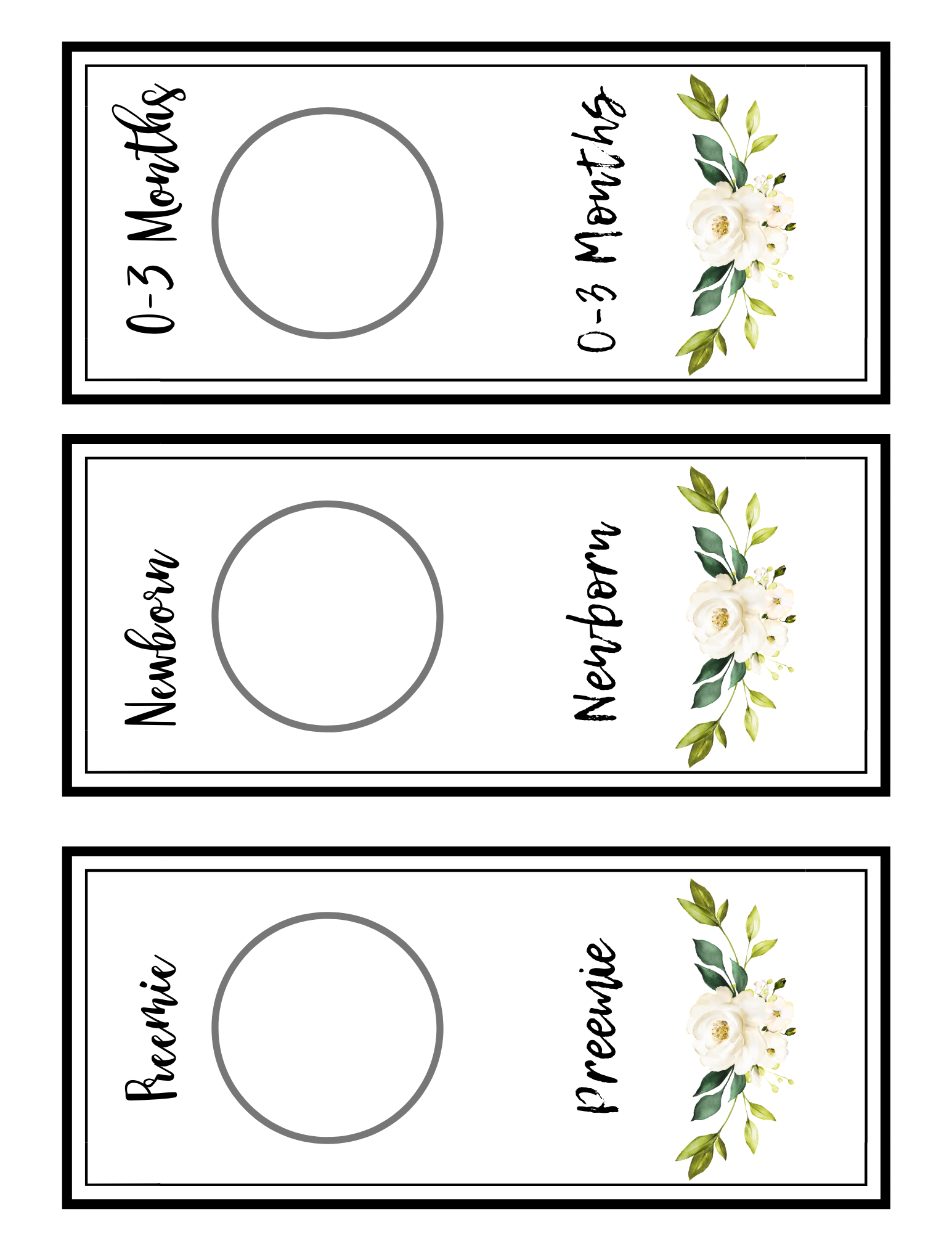 greenery nursery closet dividers