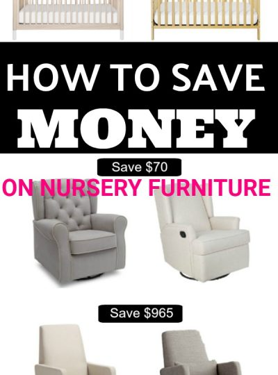 HOW TO SAVE MONEY ON NURSERY FURNITURE