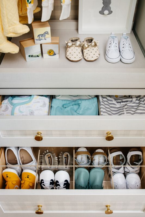 NURSERY STORAGE IDEAS FOR ORGANIZING  BABY'S SHOES