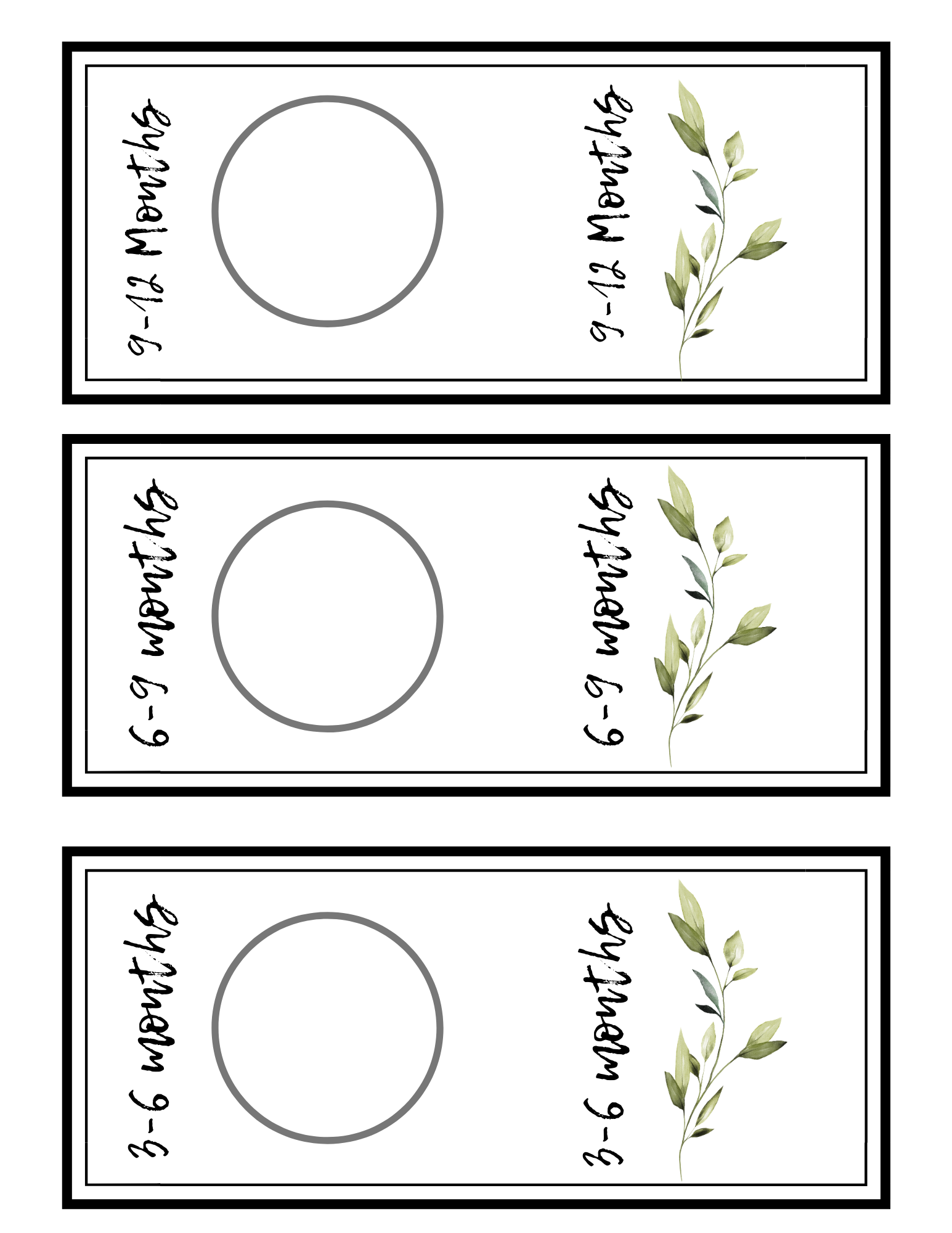 nursery closet dividers greenery