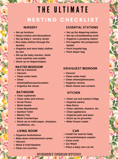 ULTIMATE NESTING CHECKLIST PRINTABLE