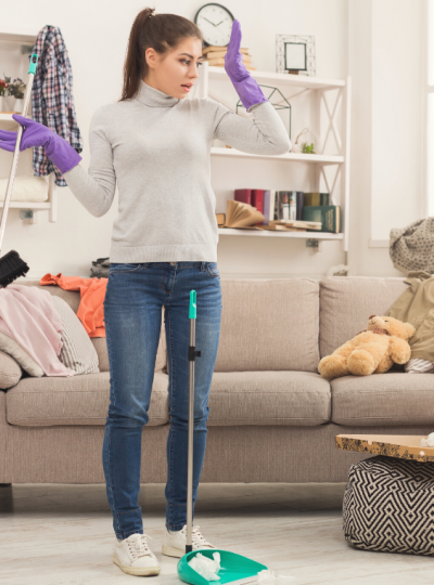 mom hacks to keep house clean with little kids