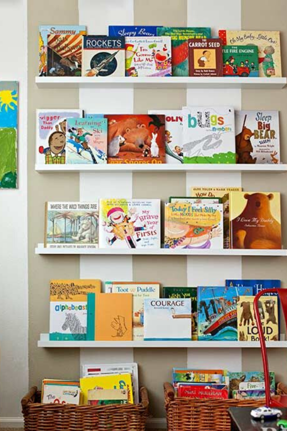 21 Clever Book Storage Ideas For Kids Nursery Design Studio