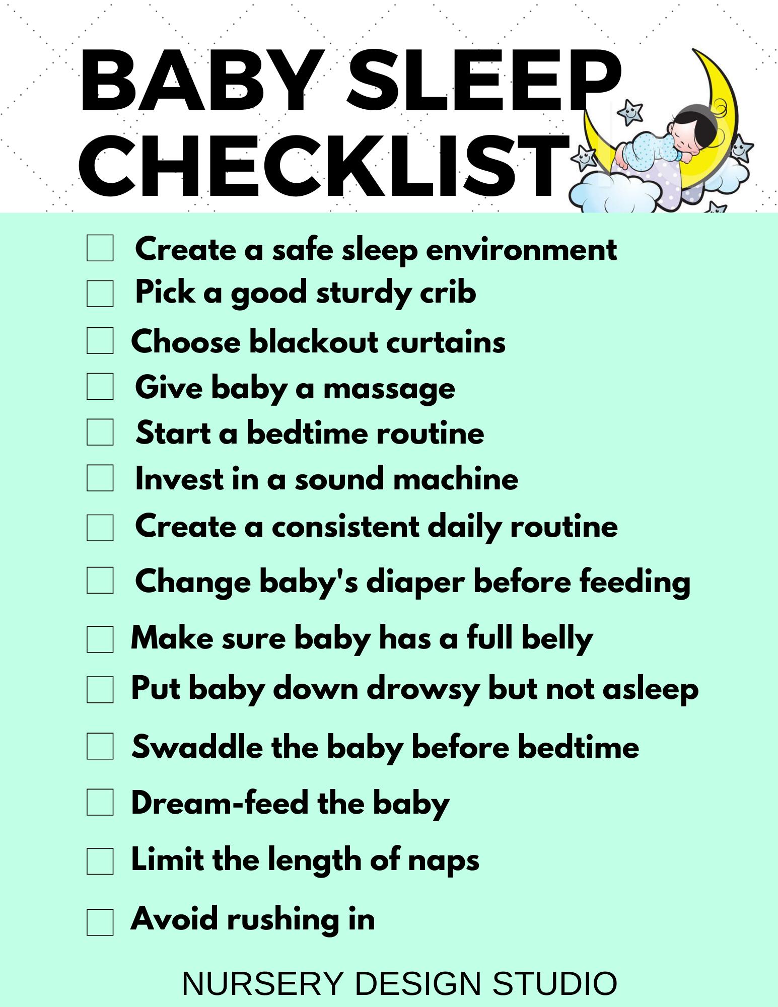 BABY BEDTIME ESSENTIALS | Nursery Design Studio