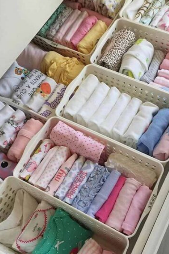 NURSERY DRAWER ORGANIZATION IDEAS