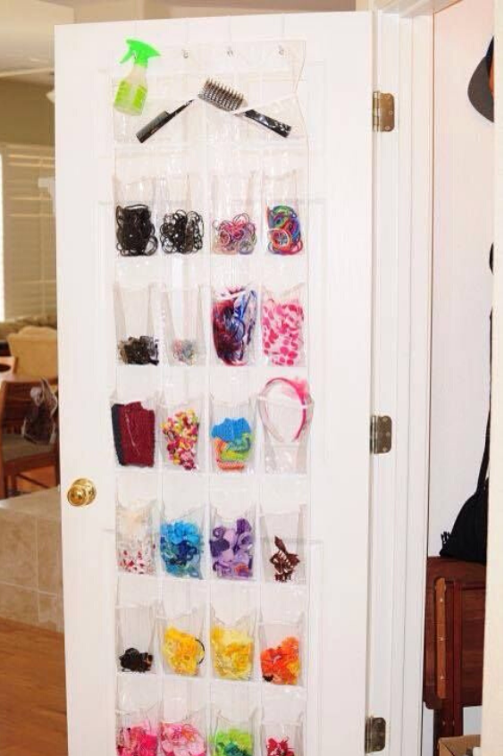 WAYS TO ORGANIZE GIRLS HAIR ACCESSORIES