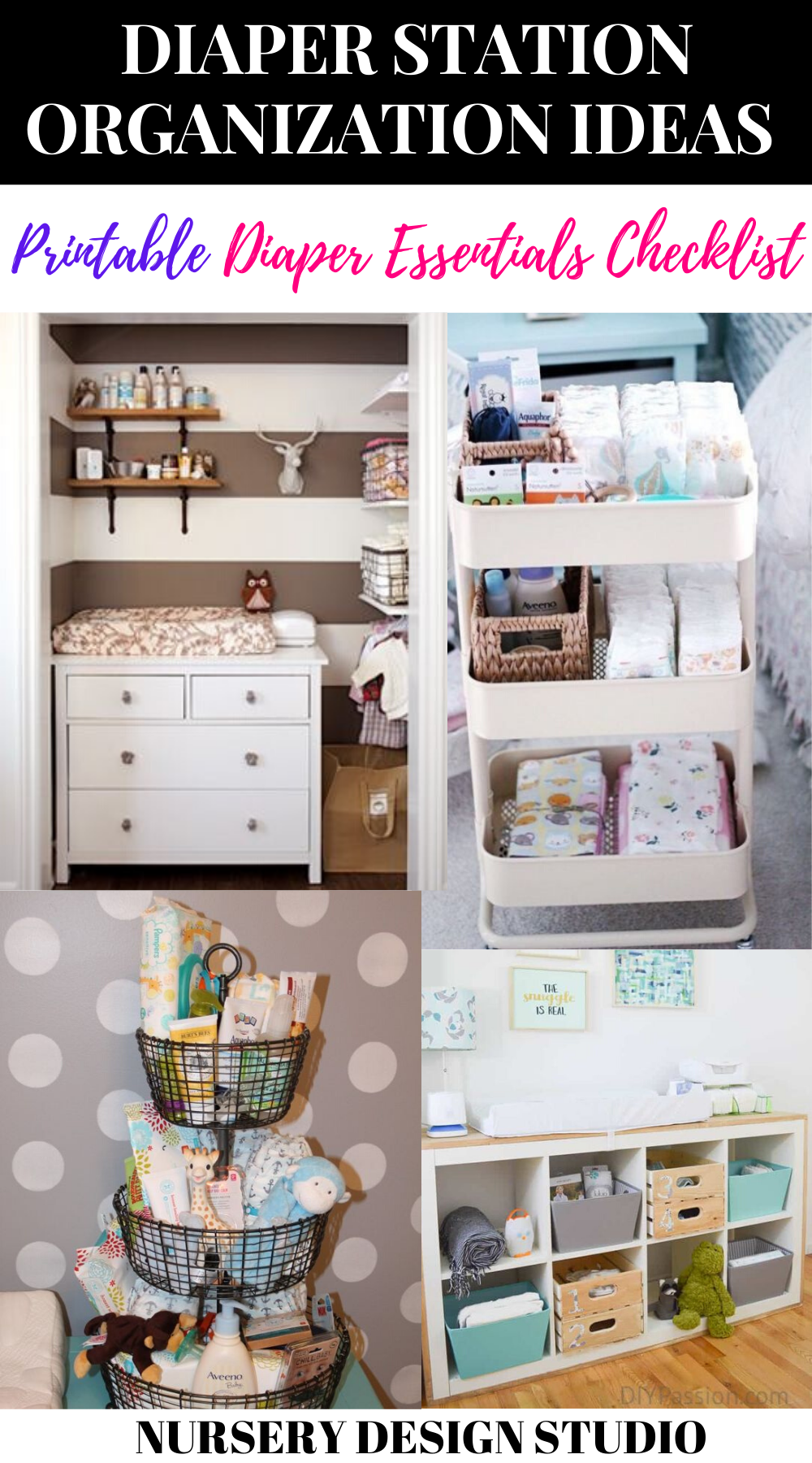 DIAPER STATION ORGANIZATION IDEAS
