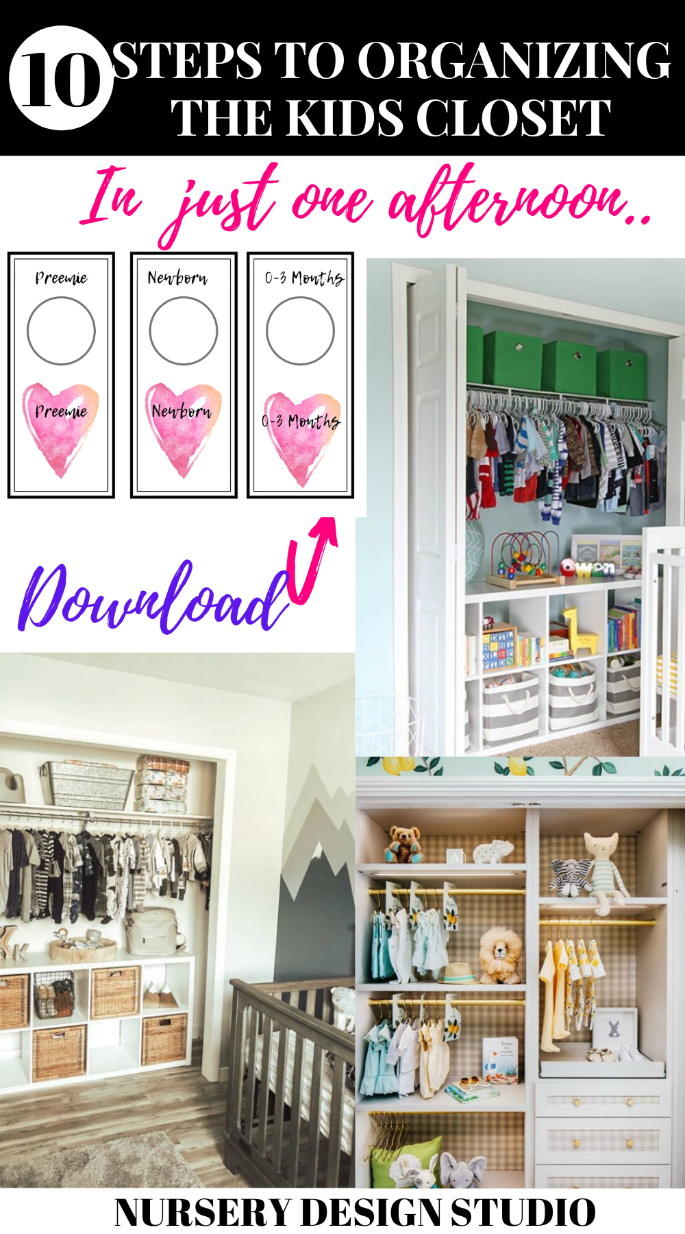 STEPS TO ORGANIZING THE CLOSET