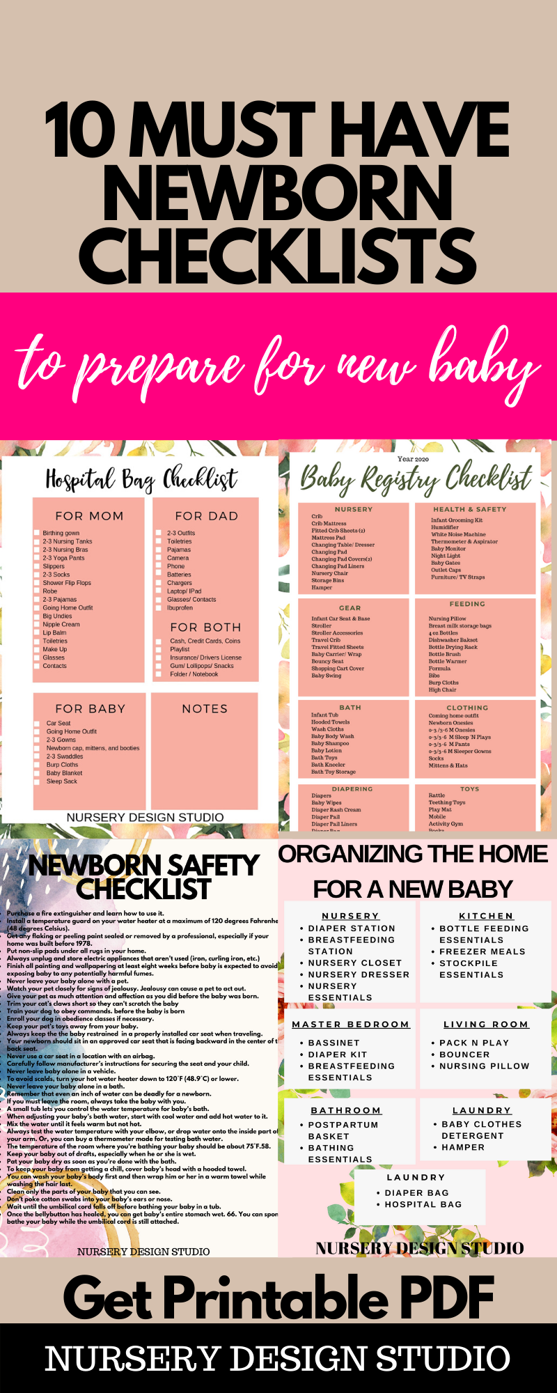 10 MUST HAVE NEWBORN CHECKLISTS TO PREPARE FOR A BABY