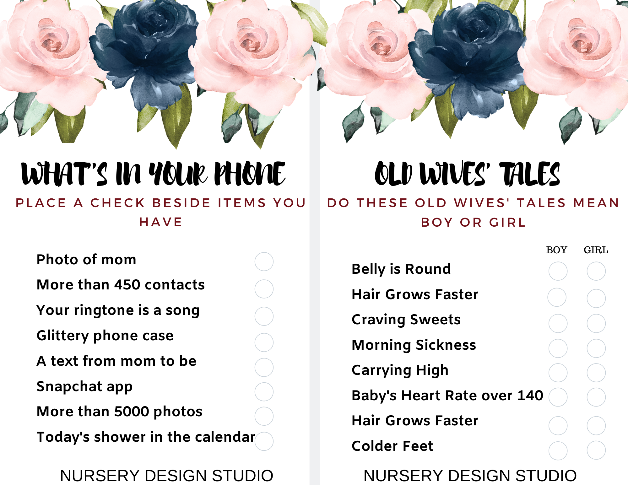FREE BABY SHOWER GAMES PRINTABLES