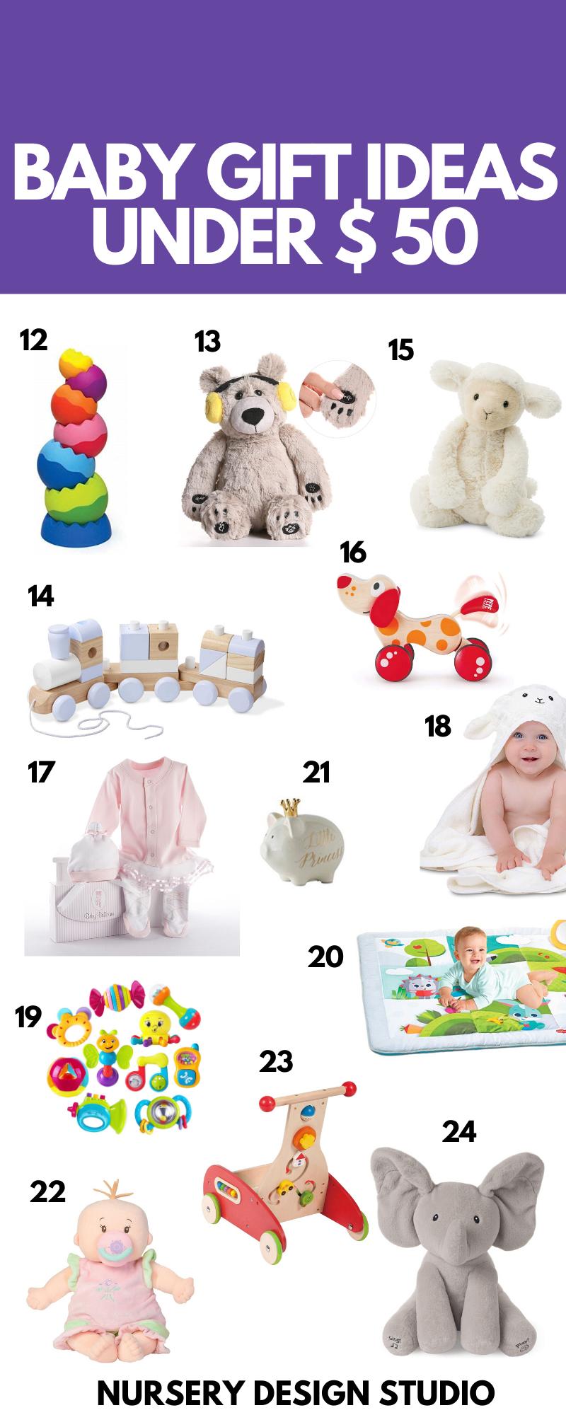 BABY GIFT IDEAS UNDER 50 DOLLARS