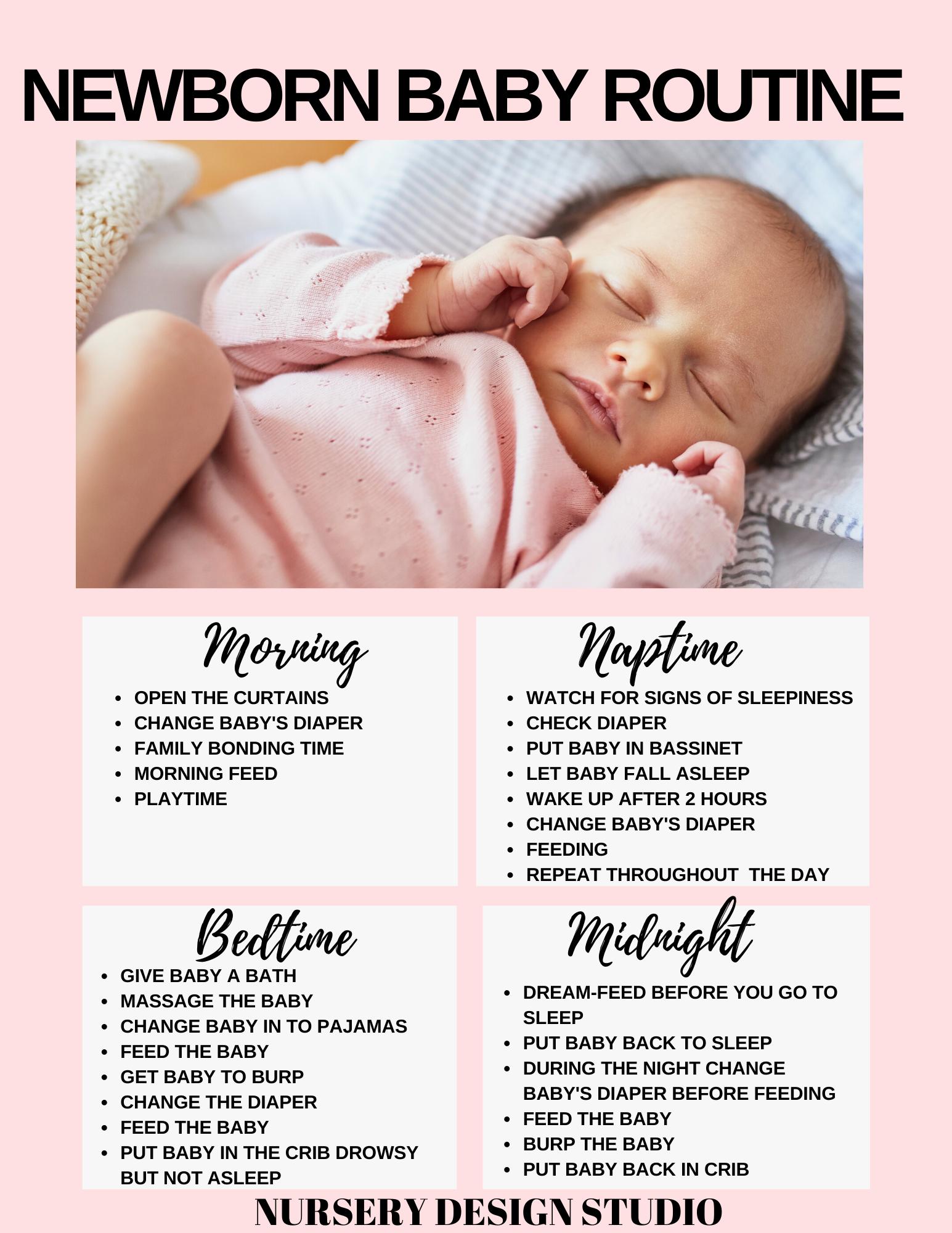 newborn baby routine