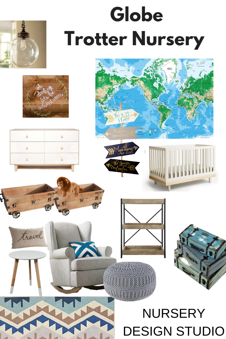 GLOBE trotter nursery design board