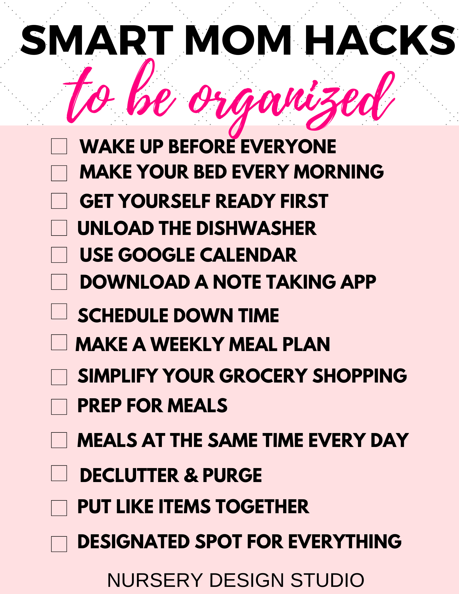 SMART MOM HACKS TO BE ORGANIZED