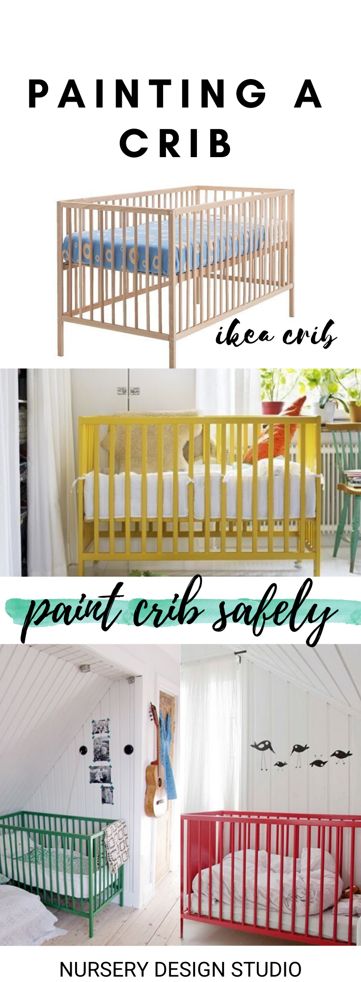 How To Paint A Crib Nursery Design Studio