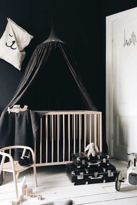 nursery designs with black paint