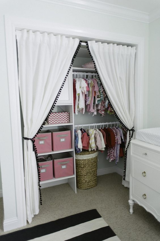ORGANIZED BABY NURSERY CLOSET IDEAS