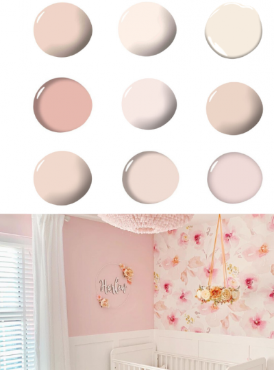 pink paints for the nursery