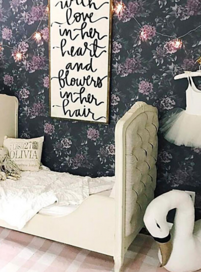 wallpaper ideas for girls bedroom
