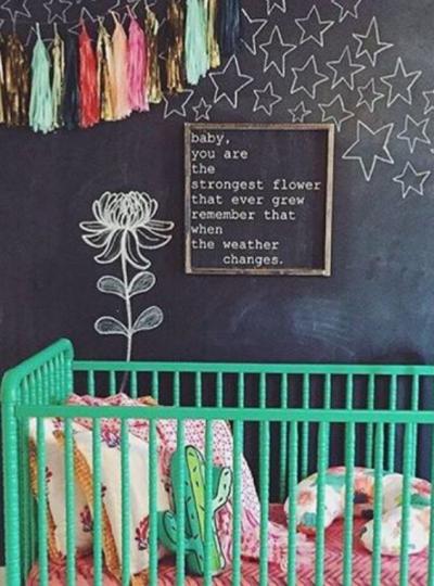 chalkboard nursery