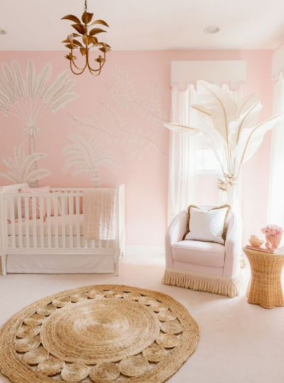 round rug in the nursery