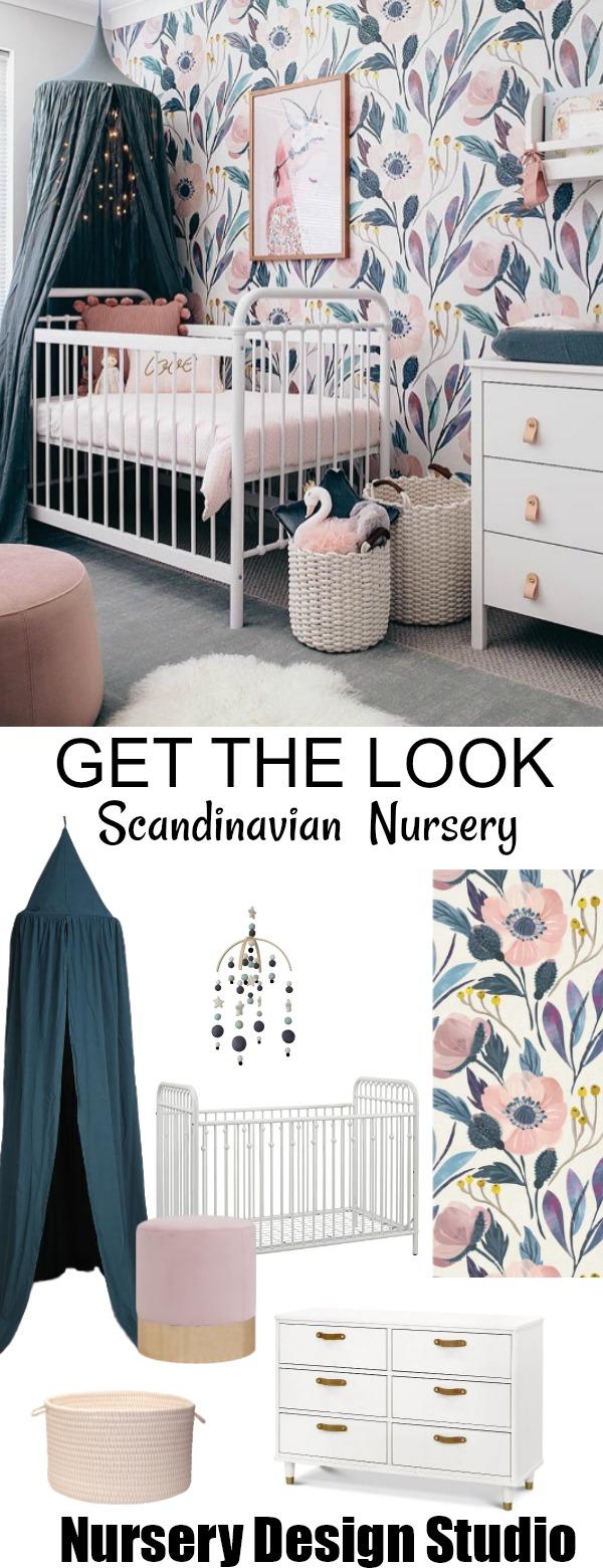 Scandinavian nursery for girl