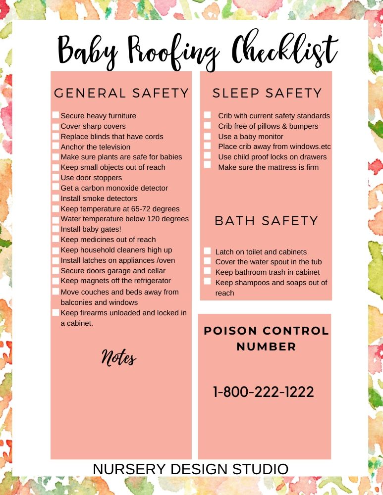 BABY PROOF CHECKLIST