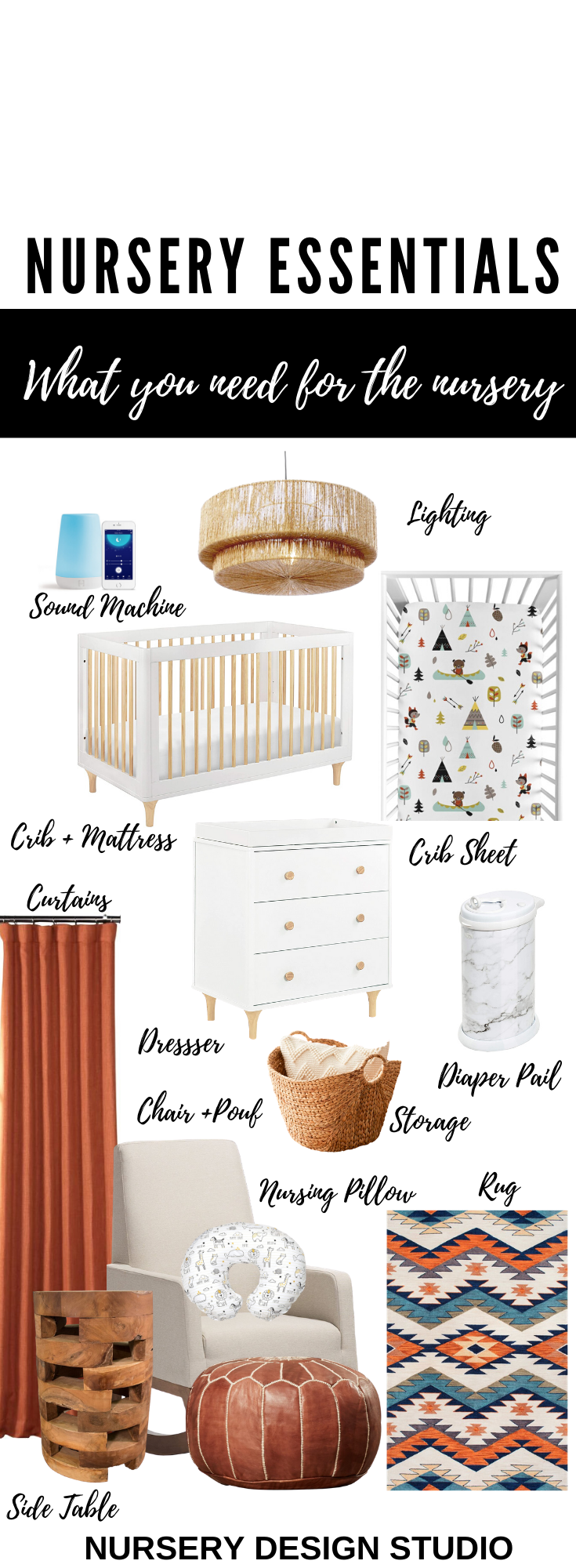 WHAT YOU NEED FOR THE NURSERY