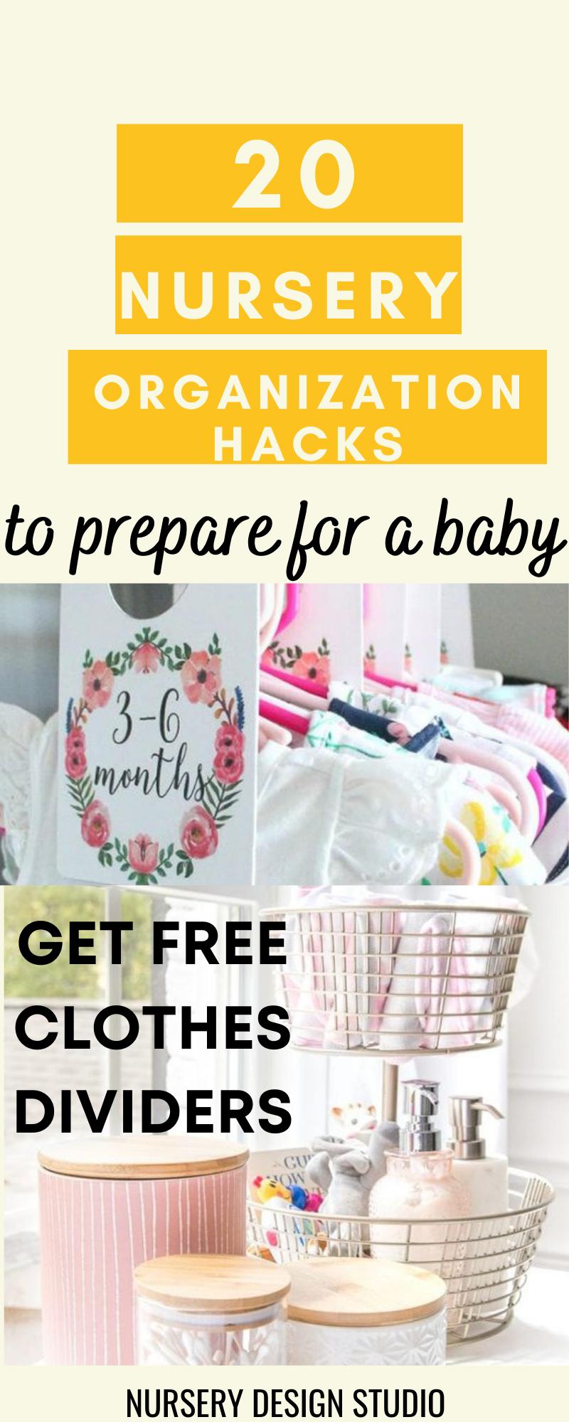 nursery organization hacks