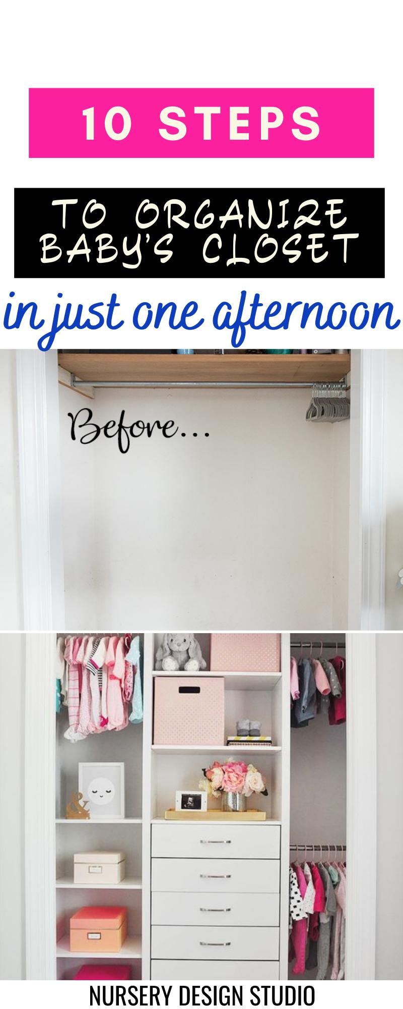 organize baby's closet