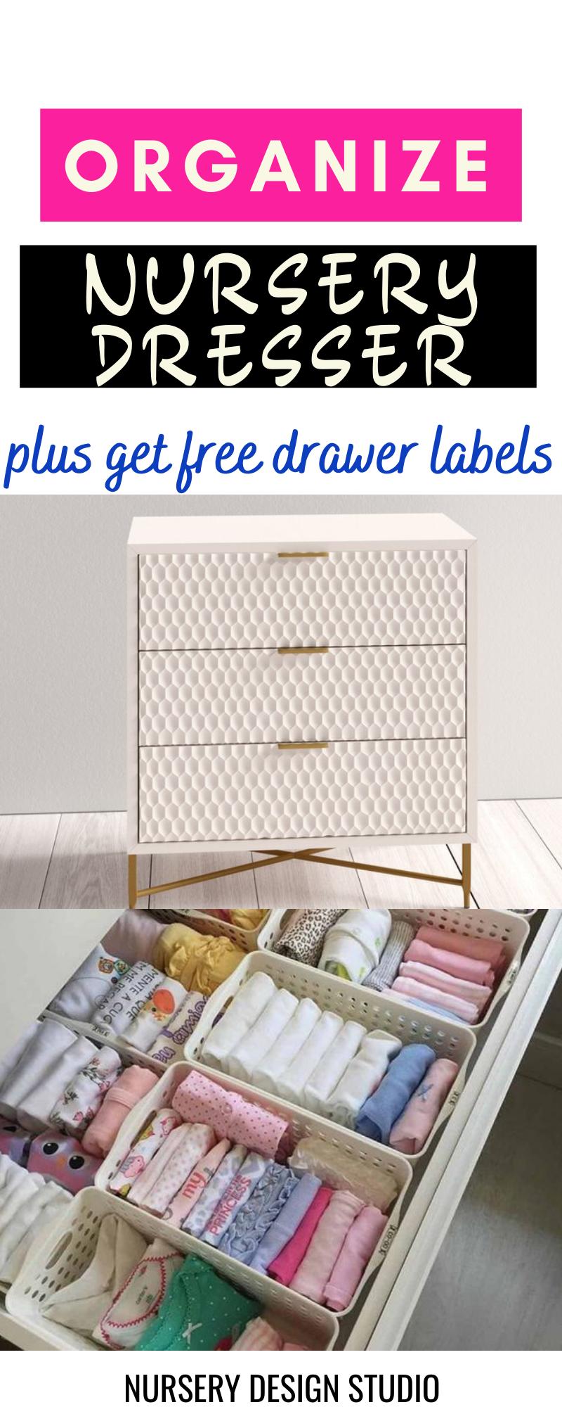 organize nursery dresser