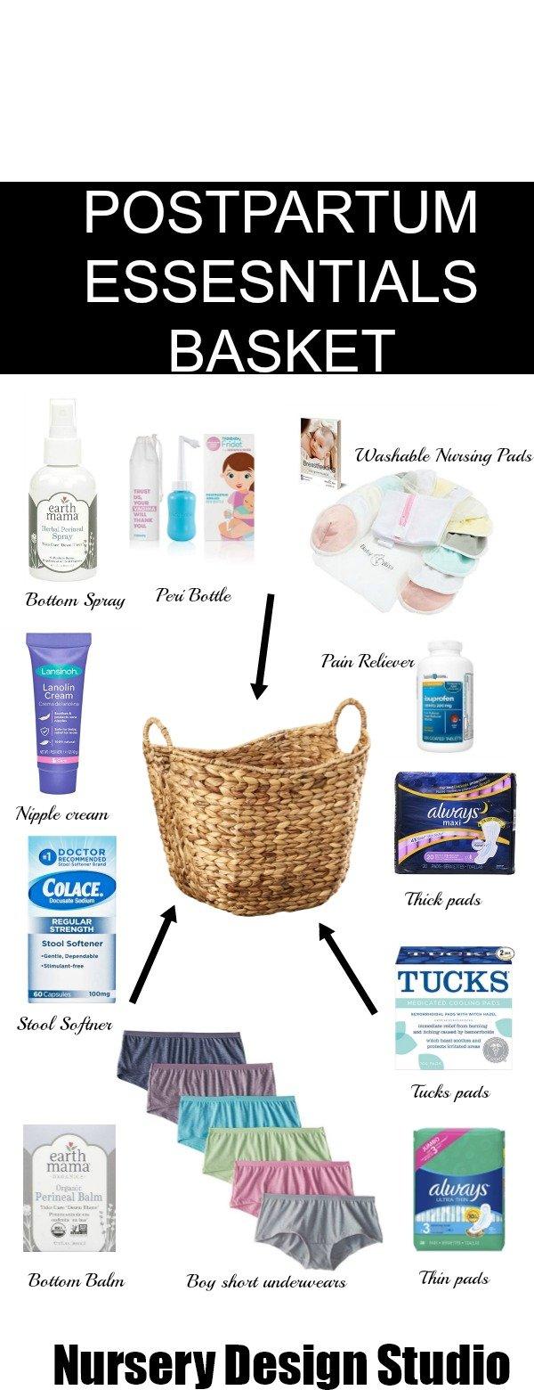 postpartum basket