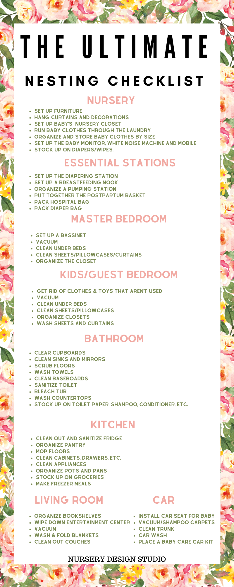ultimate nesting checklist