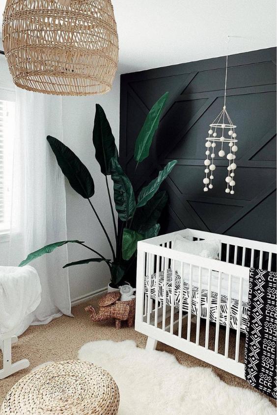 black nursery ideas