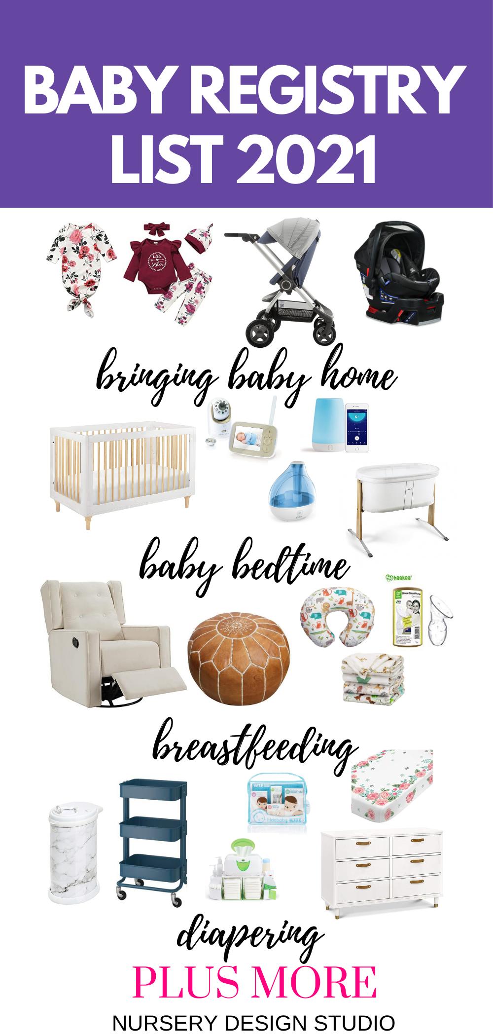 baby registry list 2021