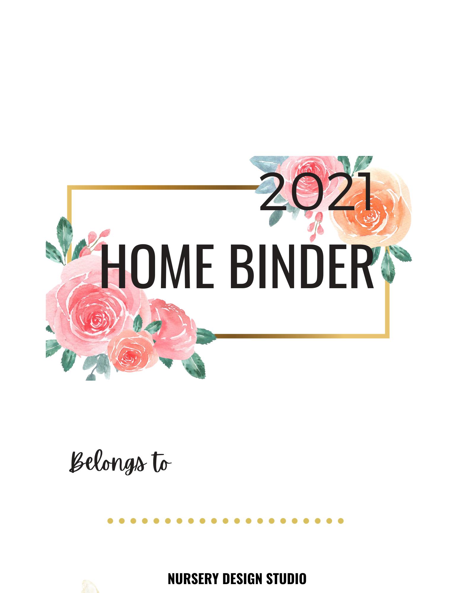2021 Homebinder and Pregnancy Journal