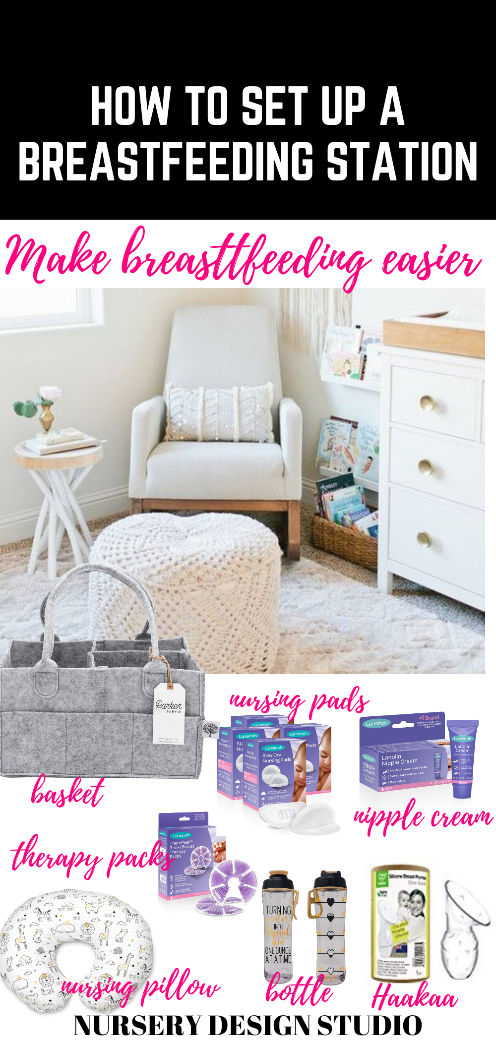 HOW TO SET UP A BREASTFEEDING STATION